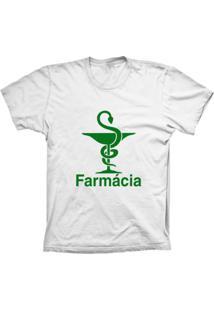 Camiseta Baby Look Lu Geek Farmácia Branco