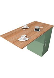 Mesa De Cozinha Articulada Retangular Enjoy Castanho E Verde Bellagio 100 Cm