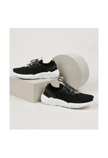 Tênis Em Neoprene Feminino Oneself Sneaker Chunky Preto