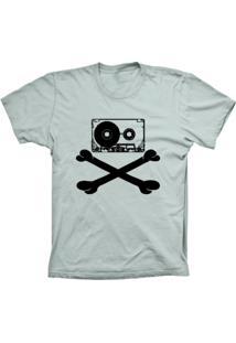 Camiseta Baby Look Lu Geek Fita Caveira Prata