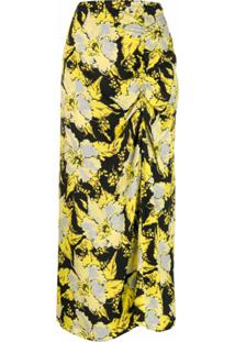 Colville Saia Longa Com Estampa Floral - Amarelo