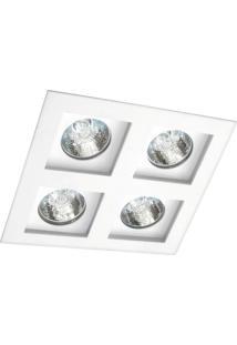 Spot Embutir Flat4 Lâmpadas Gu10 Branco Attena