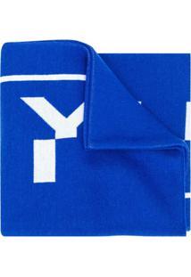 Givenchy Cachecol Com Logo - Azul
