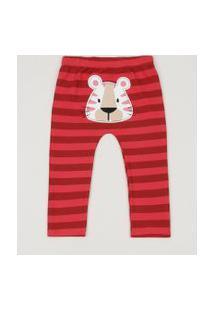 Calça Infantil Tigre Listrada Vermelho