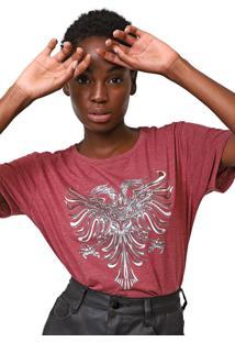 Camiseta Cavalera Aguia Foil Bordô