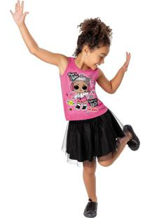 Conjunto Lol® Saia Tule Menina Malwee Kids
