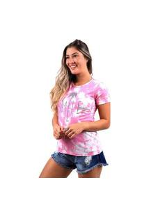 Camiseta Vida Marinha Manga Curta Pink
