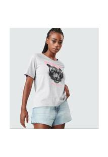T-Shirt Feminina Go Wild Rovitex Cinza