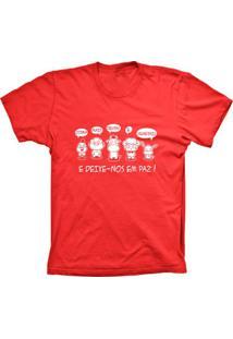 Camiseta Baby Look Lu Geek Vegetarianos Vermelho