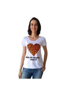 Camiseta Calupa Onça Oncinha Tal Mãe Tal Filha Branco
