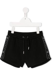 Givenchy Kids Short Com Logo Lateral - Preto