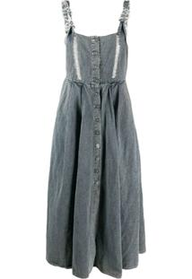 Miaoran Vestido Salopete Com Abotoamento Frontal - Azul