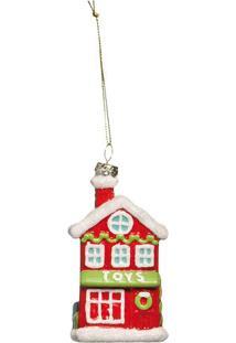Enfeite De Casa Para Pendurar- Vermelho & Branco- 10Cromus