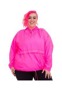 Blusão Corta-Vento Wonder Size Sabiha - Feminino - Rosa