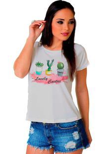 Camiseta Shop225 Lovely Cactus Branco