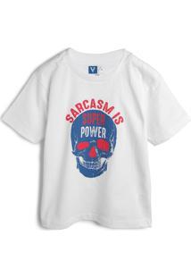 Camiseta Vr Kids Menino Caveira Branca
