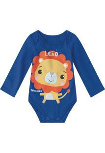 Body Azul Leão Fisher Price®