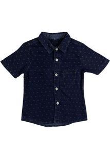 Camisa Infantil Para Menino - Azul