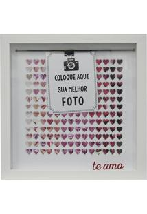 "Painel Fotogrã¡Fico ""Te Amo""- Branco & Pink- 22X22X2Ckapos"