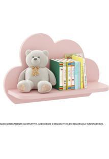 Prateleiras Decorativas Em Mdf - 45X29 Cm - Nuvens - Rosa - Multimóveis