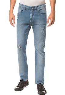Calça Jeans Five Pockets Ckj 025 Slim Straight - Azul Claro - 36