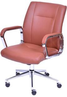 Cadeira De Escritorio Baixa Zodia Terra Base Cromada - 43025 - Sun House