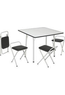 Conjunto De Mesa Com 4 Cadeiras Dani Corino Branco