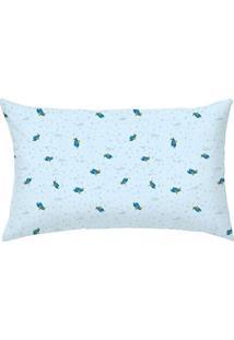 Travesseiro Aviã£O- Azul Claro & Azul- 35X28Cm- 1Papi