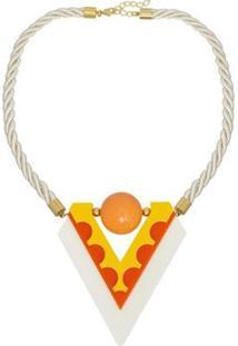 Colar Le Diamond Acrílico Amarelo - Feminino-Amarelo