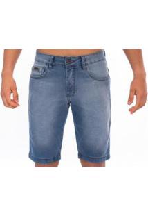 Bermuda Jeans Masculino Slim Confort - Masculino-Azul