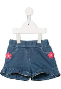 Little Marc Jacobs Ruffled Trim Skirt - Azul