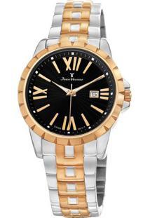 Relógio Analógico Jv01334- Bronze & Preto- Jean Vernjean Vernier