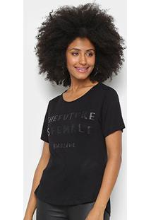 Camiseta Morena Rosa The Future Is Female - Feminino-Preto