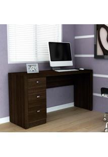 Mesa Para Computador Com 3 Gavetas Me4102 - Tecno Mobili - Tabaco