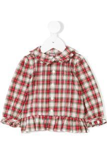 Ralph Lauren Kids Camisa Xadrez - Vermelho