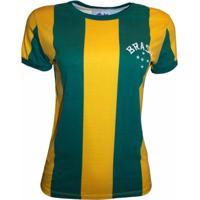 23ba6ce14 Camisa Liga Retrô Brasil 1916 - Feminino