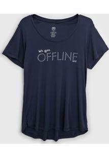 Camiseta Alto Giro Skin Fit Inspiracional Cinza