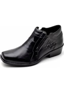 Bota Country Jungle Reta Oposta Preto Com Ziper Preto