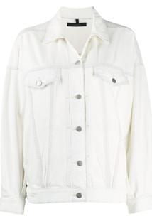 J Brand Jaqueta Jeans Com Efeito Desbotado - Branco