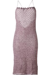 Vivienne Westwood Vestido Em Tricô - Pink & Purple