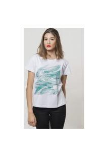 Camiseta Jay Jay Basica O Mar Branca Dtg