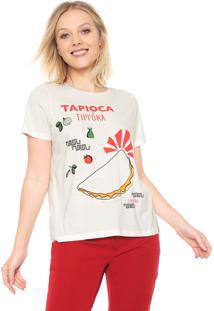 Camiseta Cantão Tapioca Off-White
