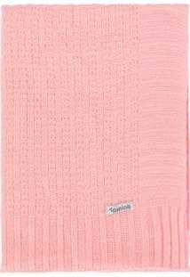 Manta Cobertor De Berço Tricô Tamine Luxo Rosa Bebê