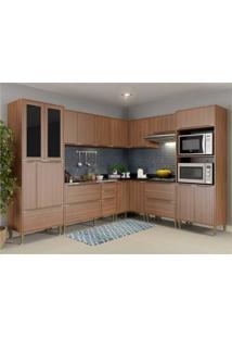 Cozinha Completa Multimã³Veis Com 8 Peã§As Calã¡Bria 5461 Nogueira - Incolor - Dafiti