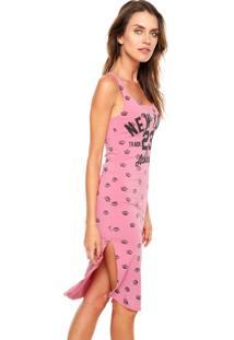 Vestido Fitwell Curto New York Rosa