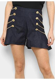 Short Jeans Lança Perfume High Skirt Feminino - Feminino