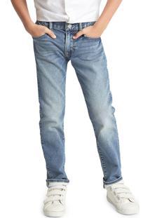 Calã§A Jeans Gap Infantil Sim Fantastiflex Estonada Azul - Azul - Menino - Dafiti