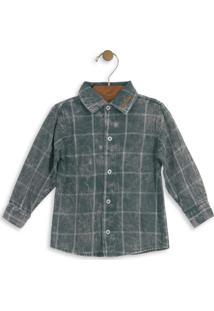 Camisa Xadrez Infantil Verde