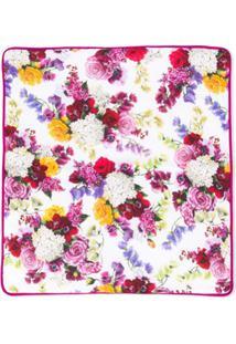 Dolce & Gabbana Kids Cobertor Floral - Branco
