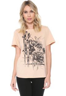 Camiseta Forum Floral Bege